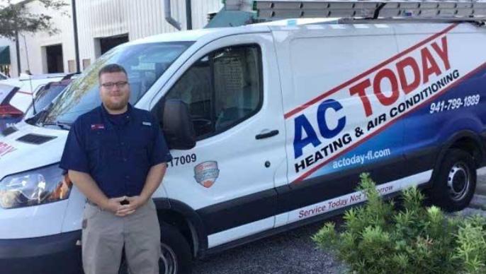 Technician Standing Infont Of Service Van@2x
